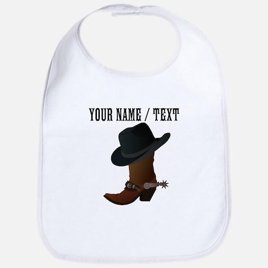 Custom Cowboy Boot And Hat Bib