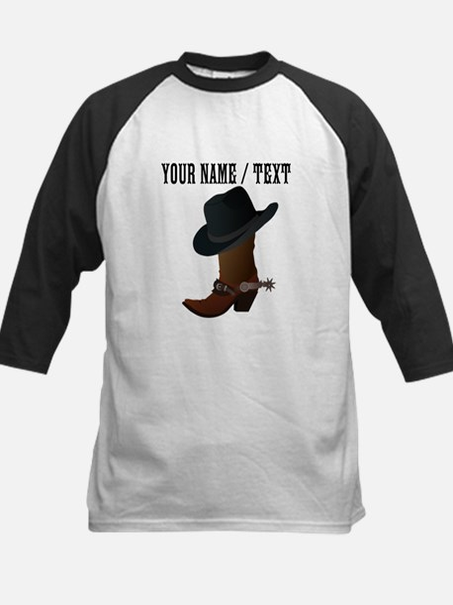 Custom Cowboy Boot And Hat Baseball Jersey