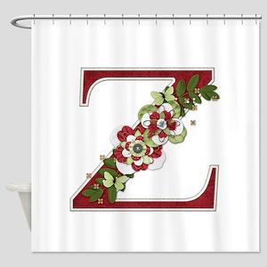 Monogram Letter Z Shower Curtain