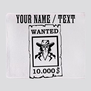Custom Wanted Poster Throw Blanket