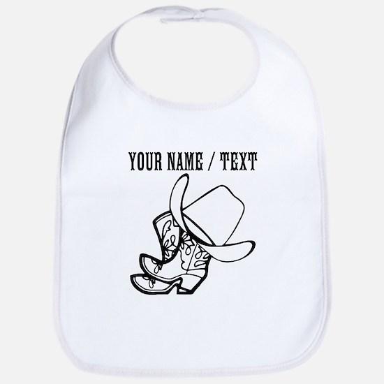 Custom Cowboy Hat And Boots Bib
