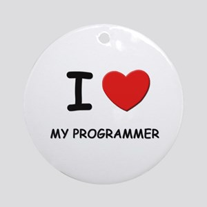 I love program researchers Ornament (Round)