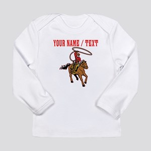 Custom Cowboy With Lasso Long Sleeve T-Shirt