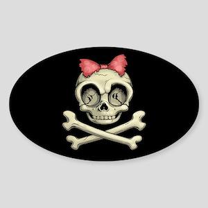 Betty Bones Sticker (Oval)