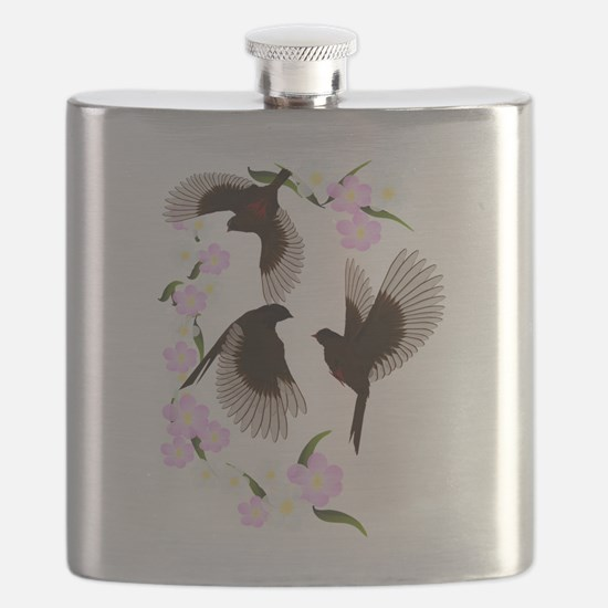 Three Sparrows Trans Flask