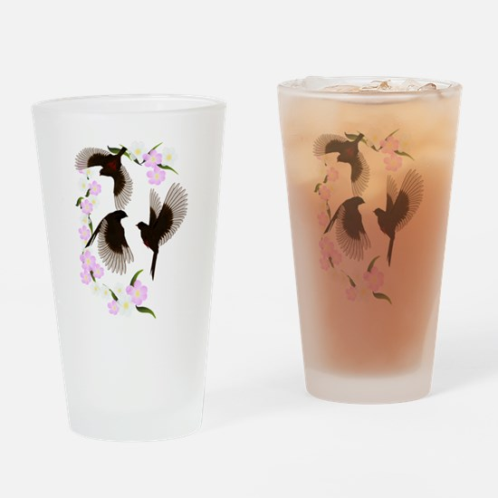 Three Sparrows Trans Drinking Glass