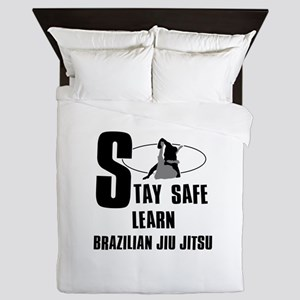 Stay safe learn Brazilian Jiu Jitsu Queen Duvet