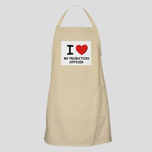 I love probation officers BBQ Apron