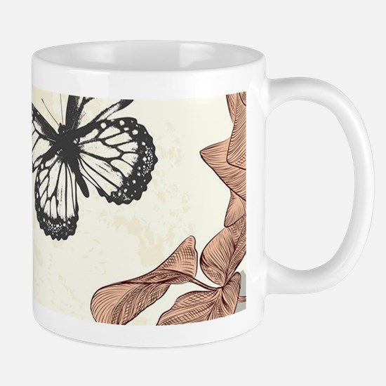 Vintage Shabby Chic Roses and Butterfli Mug
