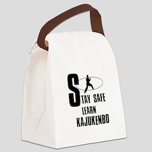 Stay safe learn Kajukenbo Canvas Lunch Bag