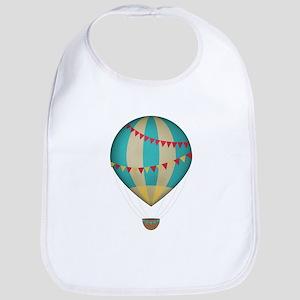 Hot air balloon blue Bib