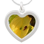 Bugs Do It Silver Heart Necklace