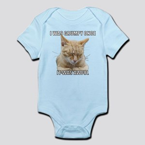 Zen Cat - I Was Grumpy Once It Was Awful Body Suit