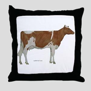Guernsey Milk Cow Throw Pillow