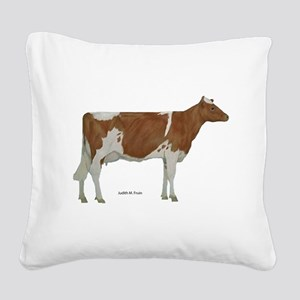 Guernsey Milk Cow Square Canvas Pillow