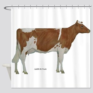 Guernsey Milk Cow Shower Curtain