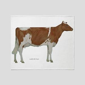 Guernsey Milk Cow Throw Blanket
