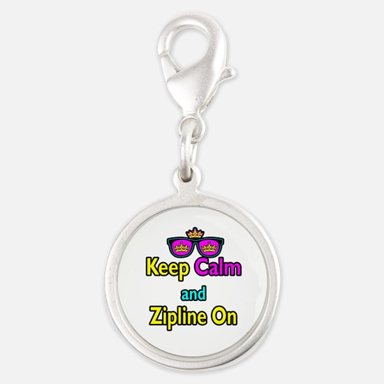 Crown Sunglasses Keep Calm And Zipline On Silver R