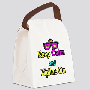 Crown Sunglasses Keep Calm And Zipline On Canvas L
