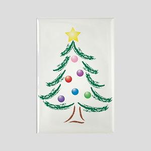 Christmas Tree Rectangle Magnet