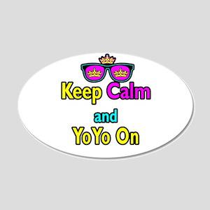 Crown Sunglasses Keep Calm And YoYo On 20x12 Oval