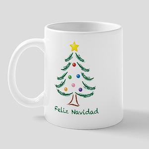 Feliz Navidad Tree Mug