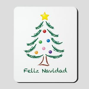 Feliz Navidad Tree Mousepad