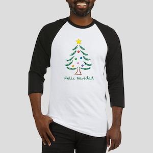 Feliz Navidad Tree Baseball Jersey