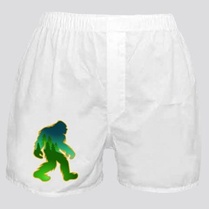 Sasquatch Forest Scene Boxer Shorts