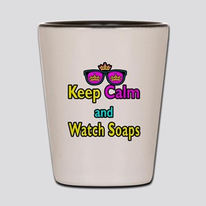 Crown Sunglasses Keep Calm And Watch Soaps Shot Gl