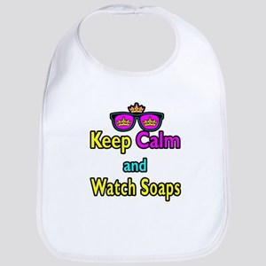 Crown Sunglasses Keep Calm And Watch Soaps Bib