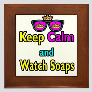 Crown Sunglasses Keep Calm And Watch Soaps Framed
