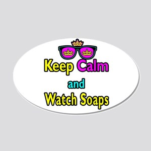 Crown Sunglasses Keep Calm And Watch Soaps 20x12 O