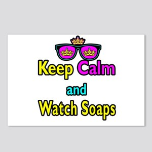 Crown Sunglasses Keep Calm And Watch Soaps Postcar