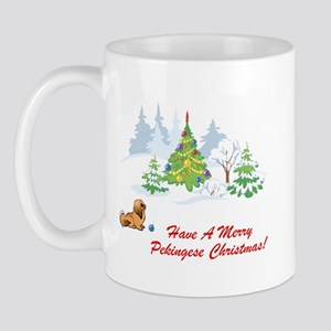 Merry Pekingese Christmas Mug