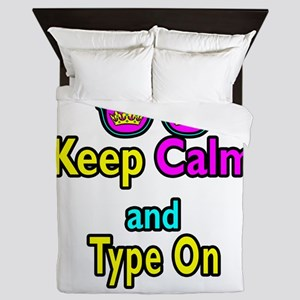 Crown Sunglasses Keep Calm And Type On Queen Duvet
