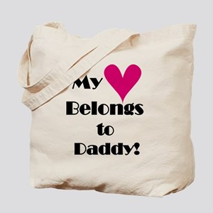 Heart Belongs to Daddy and Mommy Tote Bag