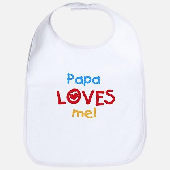 Papa Loves Me Bib