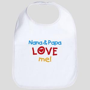 Nana & Papa Love Me Bib