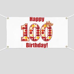 Happy 100th Birthday! Banner