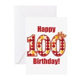 Birthday 100 Greeting Cards (20 Pack)