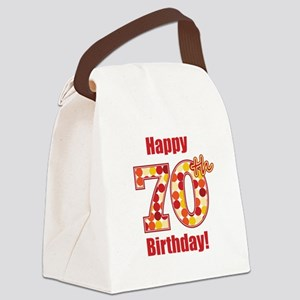 Happy 70th Birthday! Canvas Lunch Bag