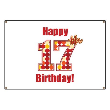 Happy 17th Birthday Banner
