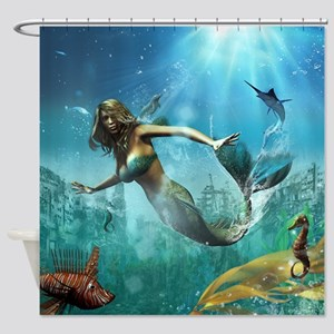 Glimpse Of Atlantis Shower Curtain
