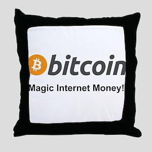 Bitcoin: Magic Internet Money! Throw Pillow