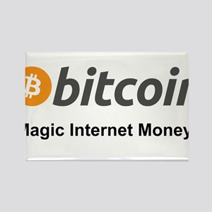 Bitcoin: Magic Internet Money! Rectangle Magnet