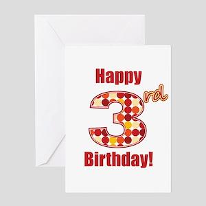 Happy 3rd Birthday! Greeting Card