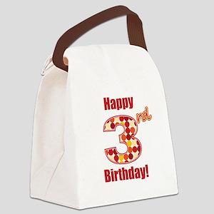 Happy 3rd Birthday! Canvas Lunch Bag