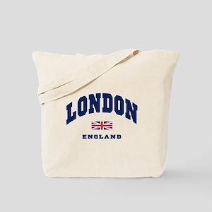London England Union Jack Tote Bag