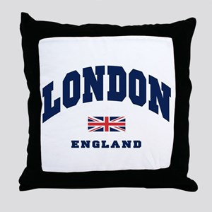 London England Union Jack Throw Pillow